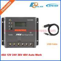 45A 48 V voltaje PWM envío libre epsolar panel Controlador del Sistema Solar VS4548BN con cable USB conectar PC