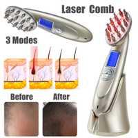 Láser rápido Anti pérdida de cabello peine crecimiento cepillo tratamiento de crecimiento RF EMS enfermera LED fotón masaje cuidado de la salud 4 en 1