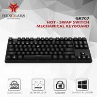 HEXGEARS 87 clave intercambiables en caliente Teclado mecánico impermeable Kailh caja de interruptor de Teclado Gamer teclado con iluminación de fondo
