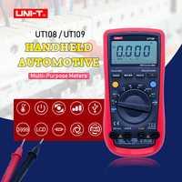 UNI-T UT108 UT109 voltímetro Digital profesional Auto sonó multímetro ACDC amperímetro DC voltímetro resistencia capacitancia Rs232