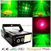 Niugull Mini RG Proyector láser más Color blanco luz estroboscópica LED Disco DJ KTV luz fiesta familiar mostrar RG mezcla del Laser estroboscópica