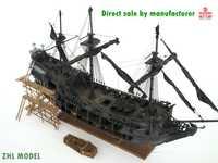 ZHL nivel superior de la Perla Negra Modelo de barco de madera (todos los escenarios versión en inglés manuales detallados)