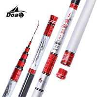 DOAO Haute Matériau de Carbone Extra-Dur Canne À Pêche 3.6-8.1 M Télescopique Canne À pêche de Mer Canne À Pêche De Taiwan Pour gros Poissons de la carpe