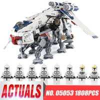Educativos 05053 estrella de la serie 1788 piezas la República de barco con AT-OT Walker modelo guerras bloques de construcción de juguete legoINGlys 10195