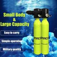 0.5L amarillo Mini buceo equipos cilindro de buceo del tanque de oxígeno de la libertad respiración bajo el agua del tanque de oxígeno Mini