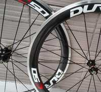 Chino oem etiqueta 700C ace Carbón clincher ruedas de bicicleta de carretera 50mm con aleación de superficie