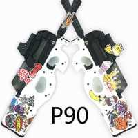 Agua de ráfagas arma P90 eléctrico pistola de juguete Graffiti edición En directo/Live CS asalto Snipe arma al aire libre pistola Juguetes