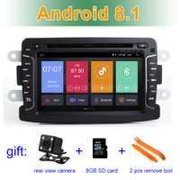 Pantalla IPS Android 8,1 reproductor de DVD del coche Radio para Dacia Sandero Duster Renault Captur Lada rayos X Logan 2 con wifi BT GPS ESTÉREO