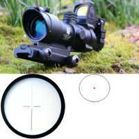 Táctico ACOG 4x32 rojo Real de fibra óptica iluminada alcance del Rifle w/RMR punto rojo rastro alcance Riflescope para Rifle 223 calibre 308.