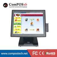 Nuevo tipo 15 pulgadas pantalla táctil POS Terminal con lector de tarjetas POS2119 conjunto completo de Hardware POS