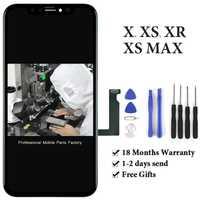 1 piezas para TFT Tianma AMOLED OEM de calidad pantalla para iphone X Xs X XsMax Xr LCD con digitalizador de pantalla táctil la Asamblea + anillo de la cámara