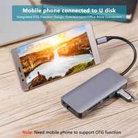 9 En 1 Tipo C eje adaptador USB C a HDMI 2 USB3.0 Micro SD/TF lector de tarjeta con la policía de JLRJ88