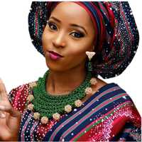 4 UJewelry Africana joyería Set pendientes y collar verde joyería nupcial con oro bolas envío libre 2018 Indian moda nuevo