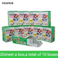 Fujifilm Fuji instax mini 9 película 200 hoja de Fuji instsnt Foto pegatinas para mini 8 7 s 7 25 50 s 90 cámara instantánea de papel