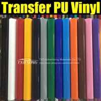 Película de vinilo de transferencia de PU de alta calidad para camisas con tamaño: 0,5x25 m por rollo por envío gratis