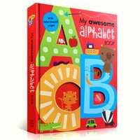 Mi increíble libro del alfabeto ABC Original en inglés de cartón libros bebé niños aprendizaje educativos palabra libro Carta en forma de