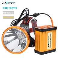 Faro CREE XHP70 Super brillante luz blanca o amarilla opcional incorporado 8*18650 led recargable de la linterna