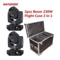 Sharpy haz 7r 230 w la luz de la cabeza con el caso del vuelo/haz 230 cabeza de etapa profesional equipo