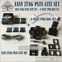 2019 el más nuevo fácil JTAG PLUS LITE de fácil Jtag más caja + nuevo E-mate caja de Emate Pro caja e-hembra EMMC herramienta todo en 1