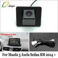 Laijie cámara de seguridad con cable adaptador para Mazda 3 Mazda3 Axela Sedan BM 2014 ~ 2017/OEM Monitores compatible cámara de visión trasera
