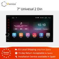 Ownice 2 GB Android 8,1 Universal Radio dvd de coche 2 din GPS navegación Wifi de vídeo estéreo 7