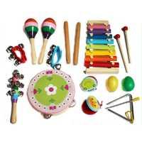 17 unids/set niños educación Musical temprana instrumento juguetes instrumentos musicales para niños aprendizaje kits de música