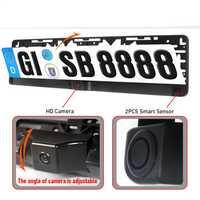 Système de caméra arrière de stationnement de secours automatique de cadre de plaque d'immatriculation européenne d'automobiles dans des accessoires de support pour voiture de plaque