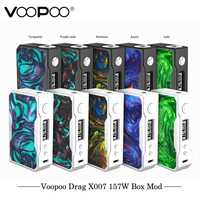 Cigarrillo electrónico Original VOOPOO DRAG 157 W TC Box MOD 157 W 18650 box mod Vape con US GENE chip TC resina caja mod E cigarrillo