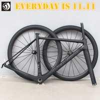 WINOWSPORTS 2018 ultraligero carbono bicicleta de carretera de ruedas T800 de carbono bicicleta de carretera de Marcos 48 51 54 cm con tija de sillín auriculares