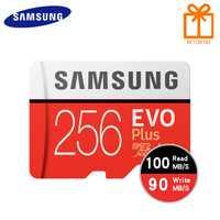 SAMSUNG tarjeta de memoria Micro SD 256GB 16 GB 32 GB 64 GB 128 GB SDHC SDXC grado EVO Plus de U3 EVO Clase 10 C10 UHS TF Trans Flash Microsd