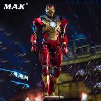 1/9 Iron Man DFS007 King artes 1/9 Mark17 Iron Man 3 MK17 figura de acción de fundición figura de película muñeca CN figura de acción