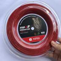 1 carrete ALPHA 1,25mm cuerda de raqueta de tenis de poliéster bambú grano de entrenamiento cuerda de giro de potencia 200m