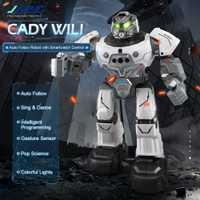 HUINA R5 CADY WILI inteligente Robot de Control remoto programable Auto sigue en Sensor de gesto de música de baile RC regalo niños regalo para niños Juguetes