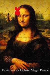 Mona Lisa 2 Magic puzle Magia trucos escenario Magia mentalismo Magia, juguetes clásicos Magie, broma, Gadget, truco