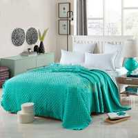 100% algodón cubierta de cama colcha Color sólido Cool/de lujo edredón completo/reina tamaño aire acondicionado verano revisé 3 piezas