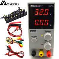 LW-K305D 30 V 5A Mini ajustable Digital DC fuente de alimentación de laboratorio fuente de alimentación de conmutación 110 V 200 V y DC Jack set