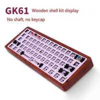 GK61 (misma marca GK64) Teclado mecánico DIY kit de intercambio en caliente conductor independiente tyce-c interfaz GH60 RGB