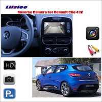 Liislee de marcha atrás del coche cámara de visión trasera para Renault Clio IV 2012 ~ 2017/Compatible con pantalla Original/ conector adaptador RCA