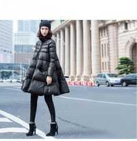 2018 nuevos abrigos de invierno tipo capa de gran tamaño de alta calidad wild warm down chaquetas para mujer