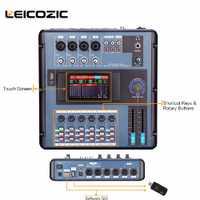 Minimezclador Digital Leicozic MD200 con conexión a PC por WIFI o USB Pantalla de consola de mezcla Digital para bandas, concierto de las Partes