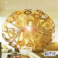 Moderna lámpara colgante Tom DIXON fundir luces de cristal Lava Irregular plata oro cobre espejo colgante para iluminación de sala de estar