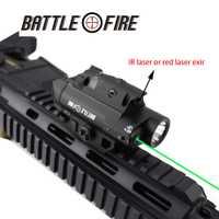 Multi-funcional de 3 en 1 láser rojo y verde colimador Vista de Alta Luz de la linterna LED rifle de caza lazer arma