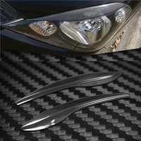 Tapa faro de fibra de carbono cejas párpados Etiqueta de ajuste para Honda Fit 2009-2012
