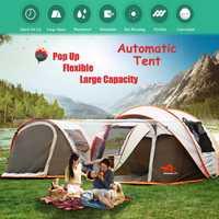 2-8 personnes entièrement automatique Camping tente coupe-vent imperméable automatique Pop-up tente famille extérieure instantanée installation tente 4 saison