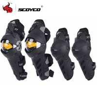 SCOYCO Motocross de la rodilla de la motocicleta Protector de la rodilla y el codo Protector de deportes al aire libre de equipos Motorsiklet Dizlik
