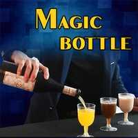 Botella mágica trucos de Magia pura tres Color líquido Magia botella mago escenario truco ilusiones taza cuelga en el aire