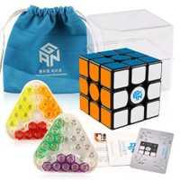 Original nouveau GAN356 X magnétique magique vitesse Cube professionnel 3x3 IPG V5 Magico Cubo échange aimants Puzzle noir sans bâton