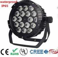 18x18 W RGBWA lavado UV 6IN1 18X12 W IP65 impermeable led Par luces RGBW 4in1 LED PAR DMX de la etapa de control de equipos de DJ luces de discoteca
