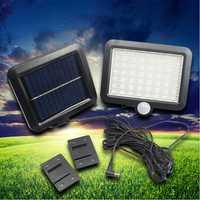 Lámpara de pared de inducción del cuerpo humano al aire libre de la luz del sensor Solar 56LED Luz de calle split lámpara de jardín solar del hogar