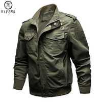 Dropshipping chaqueta militar hombres invierno 100% Chaqueta de algodón hombres del ejército piloto Fuerza Aérea chaqueta otoño Casual Cargo Jaqueta
